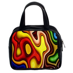 Pattern Background Structure Classic Handbags (2 Sides)