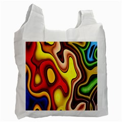 Pattern Background Structure Recycle Bag (two Side)