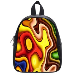 Pattern Background Structure School Bags (Small)