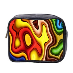 Pattern Background Structure Mini Toiletries Bag 2-Side