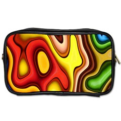 Pattern Background Structure Toiletries Bags 2-Side