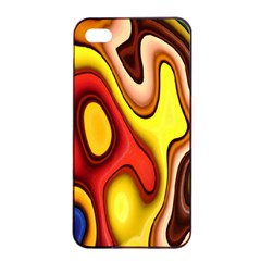 Pattern Background Structure Apple iPhone 4/4s Seamless Case (Black)
