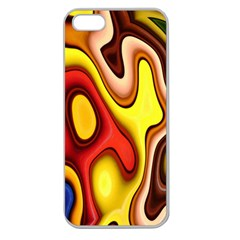 Pattern Background Structure Apple Seamless iPhone 5 Case (Clear)
