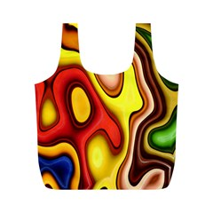 Pattern Background Structure Full Print Recycle Bags (M)