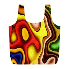 Pattern Background Structure Full Print Recycle Bags (L)