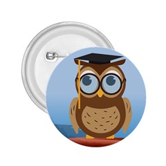 Read Owl Book Owl Glasses Read 2.25  Buttons