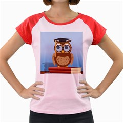 Read Owl Book Owl Glasses Read Women s Cap Sleeve T Shirt