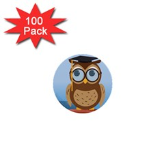 Read Owl Book Owl Glasses Read 1  Mini Buttons (100 pack)