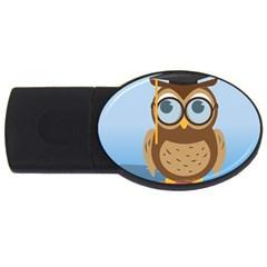 Read Owl Book Owl Glasses Read USB Flash Drive Oval (2 GB)