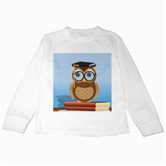 Read Owl Book Owl Glasses Read Kids Long Sleeve T-Shirts