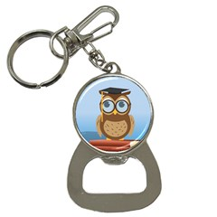 Read Owl Book Owl Glasses Read Button Necklaces