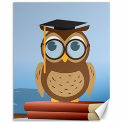 Read Owl Book Owl Glasses Read Canvas 11  x 14