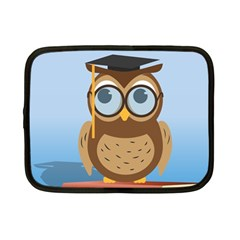 Read Owl Book Owl Glasses Read Netbook Case (Small)