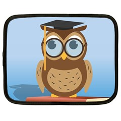 Read Owl Book Owl Glasses Read Netbook Case (Large)