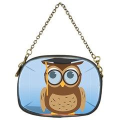 Read Owl Book Owl Glasses Read Chain Purses (One Side)