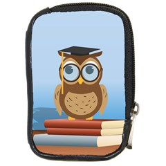 Read Owl Book Owl Glasses Read Compact Camera Cases
