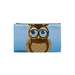 Read Owl Book Owl Glasses Read Cosmetic Bag (Small)