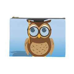 Read Owl Book Owl Glasses Read Cosmetic Bag (Large)