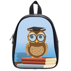 Read Owl Book Owl Glasses Read School Bags (small)
