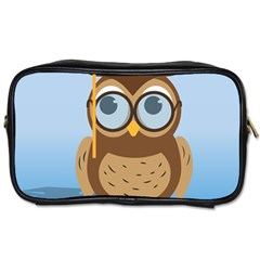 Read Owl Book Owl Glasses Read Toiletries Bags 2-Side