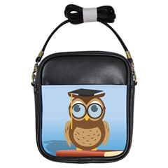 Read Owl Book Owl Glasses Read Girls Sling Bags