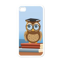 Read Owl Book Owl Glasses Read Apple iPhone 4 Case (White)