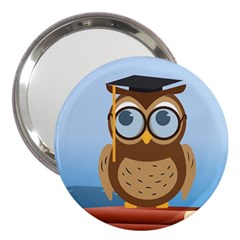 Read Owl Book Owl Glasses Read 3  Handbag Mirrors
