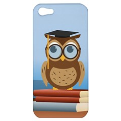 Read Owl Book Owl Glasses Read Apple Iphone 5 Hardshell Case