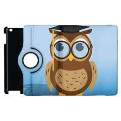 Read Owl Book Owl Glasses Read Apple iPad 3/4 Flip 360 Case