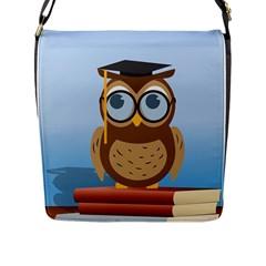 Read Owl Book Owl Glasses Read Flap Messenger Bag (l)