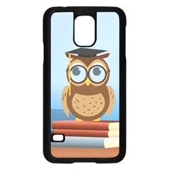 Read Owl Book Owl Glasses Read Samsung Galaxy S5 Case (black)