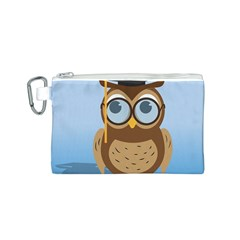 Read Owl Book Owl Glasses Read Canvas Cosmetic Bag (s)