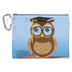 Read Owl Book Owl Glasses Read Canvas Cosmetic Bag (xxl)