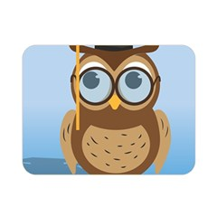 Read Owl Book Owl Glasses Read Double Sided Flano Blanket (mini)