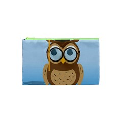 Read Owl Book Owl Glasses Read Cosmetic Bag (xs)
