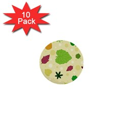 Leaves Pattern 1  Mini Buttons (10 pack)