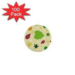 Leaves Pattern 1  Mini Buttons (100 pack)