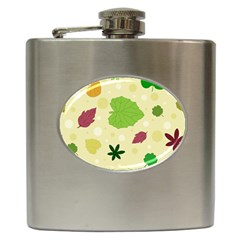 Leaves Pattern Hip Flask (6 oz)
