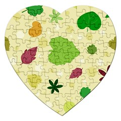 Leaves Pattern Jigsaw Puzzle (Heart)