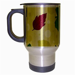 Leaves Pattern Travel Mug (Silver Gray)