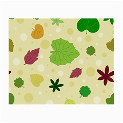 Leaves Pattern Small Glasses Cloth