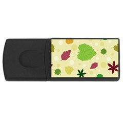 Leaves Pattern USB Flash Drive Rectangular (4 GB)