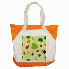 Leaves Pattern Accent Tote Bag