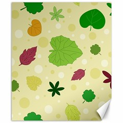 Leaves Pattern Canvas 8  x 10