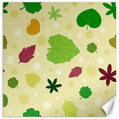 Leaves Pattern Canvas 20  x 20