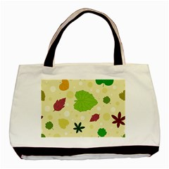 Leaves Pattern Basic Tote Bag (Two Sides)