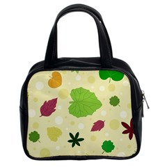 Leaves Pattern Classic Handbags (2 Sides)