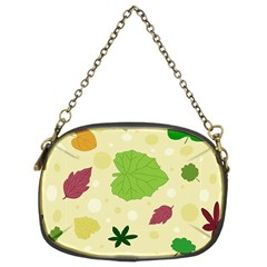 Leaves Pattern Chain Purses (Two Sides)