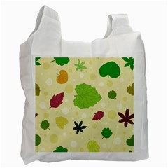 Leaves Pattern Recycle Bag (Two Side)