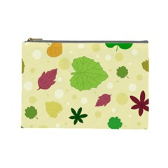 Leaves Pattern Cosmetic Bag (Large)